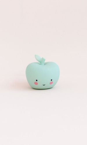 Angá Shop | Luz Quitamiedo Manzana Mint | Decoración Infantil, regalo para niños