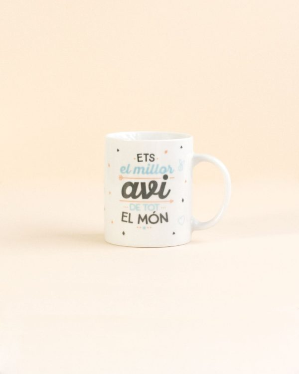 Angá Shop | Regalo para papá | Taza Mr Wonderful - Ets el millor avi de tot el món